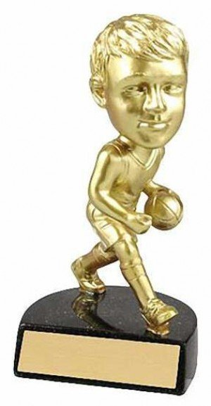 Male Basketball Bobble Head Trophy