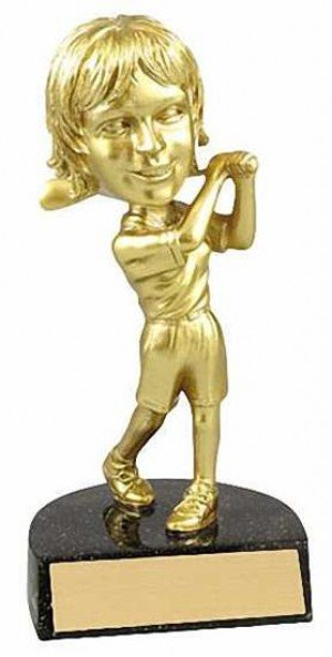 Female Golf Bobble Head Trophy