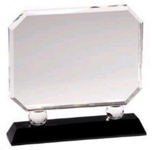 Crystal Rectangle Black Pedestal Award