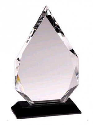 Crystal Diamond Black Pedestal Award