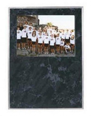 Black Marble Picture Plaque 9x12