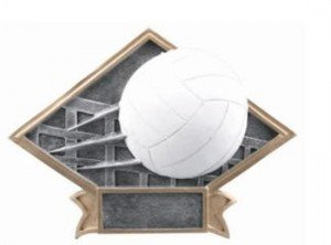Volleyball Diamond Trophy