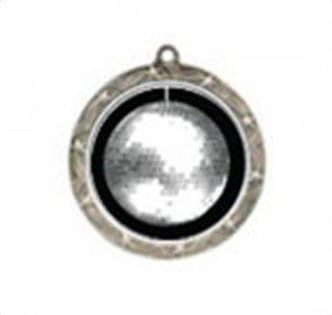 Shooting Star Disco Ball Neck Medal
