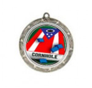 Cornhole 2 Shooting Stars Neck Medal