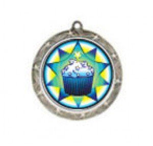 Shooting Star Cupcake Neck Medal