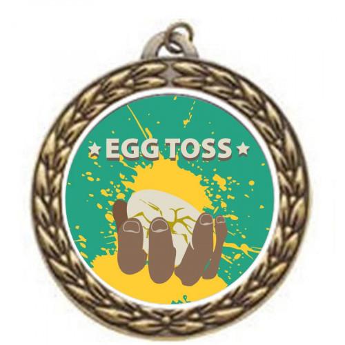 Egg Toss Vintage Medal