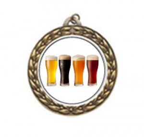 Vintage Beer Tasting Neck Medal