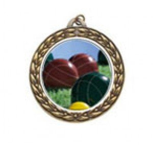 Vintage Bocce Ball Neck Medal