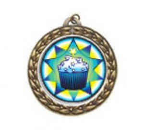 Vintage Cupcake Neck Medal