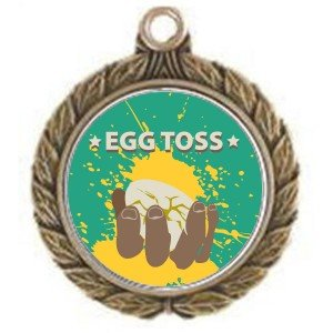 Egg Toss Victorious Medal