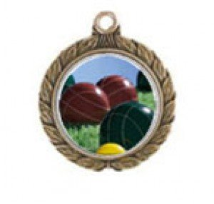 Victorious Bocce Ball Neck Medal