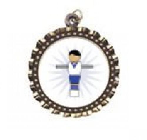 Foosball Figure Neck Medal