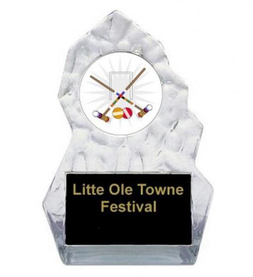 Lightning Sculpted Croquet Trophy