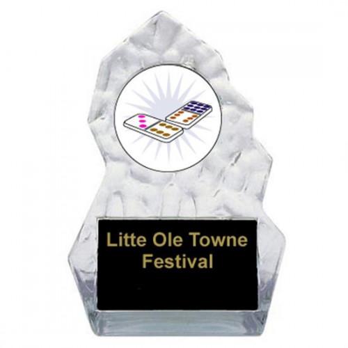 Lightning Sculpted Domino Trophy