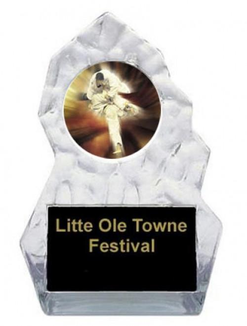Karate Lightning Sculpted Trophy