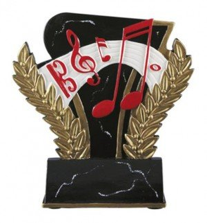 Music 6 Inch Resin Trophy