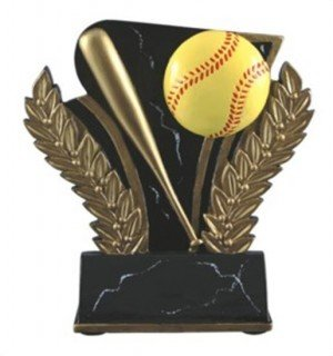 Softball 6 Inch Resin Trophy