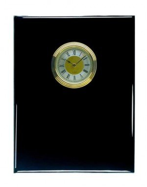 Piano Finish Black Clock Plaque