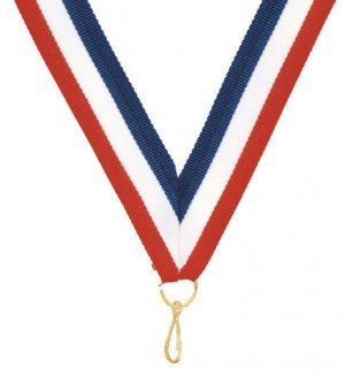 Soccer Red White and Blue Medal