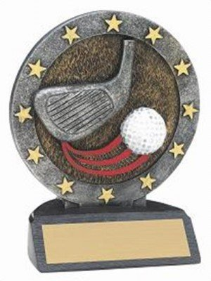 Golf Resin Figure Trophy