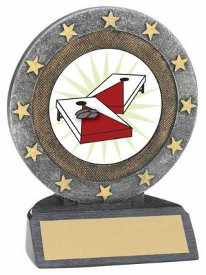 Cornhole Resin Trophy