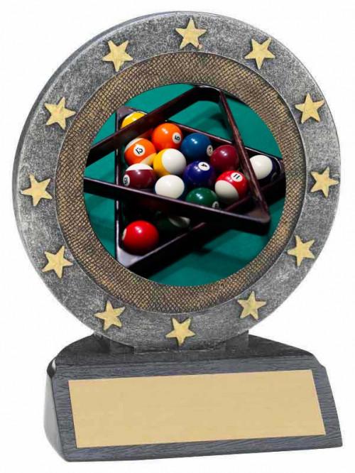 Billiards Star Resin Trophy
