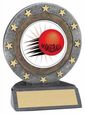 Dodgeball Resin Trophy