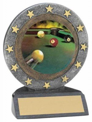 Billiards Star Resin Trophy