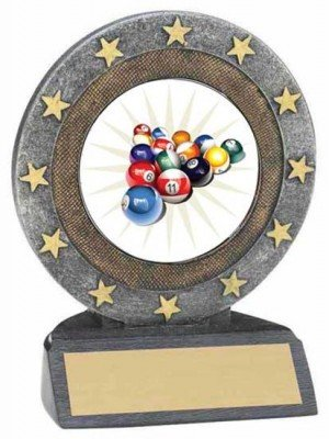 Billiards Star Resin Trophy 2