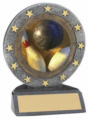 Bowling Star Resin Trophy