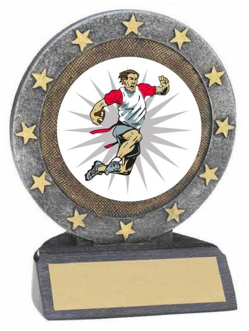 Flag Football Resin Trophy