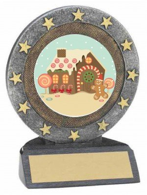 Gingerbread House Resin Trophy