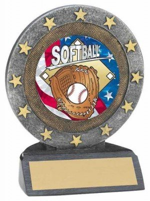 Softball Star Resin Trophy