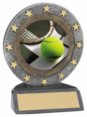Tennis Star Resin Trophy