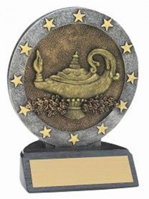 Lamp of Knowledge Resin Figure Trophy