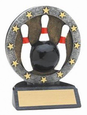 Bowling Resin Figure Trophy
