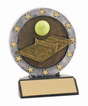 Tennis Resin Figure Trophy