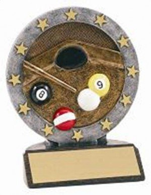 Billiard Resin Figure Trophy