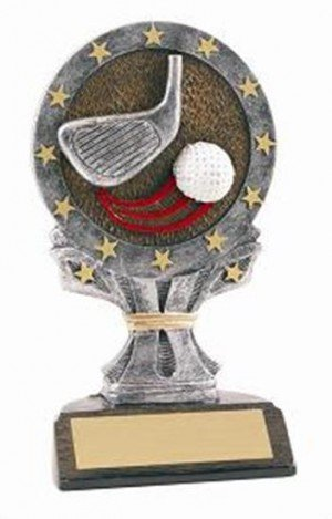 Golf 6 1/4 Tall Resin Trophy