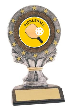 All Star Resin Pickleball Trophy
