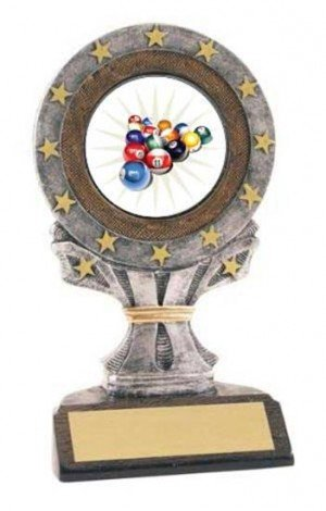 Billiard 2 All Star Resin Trophy