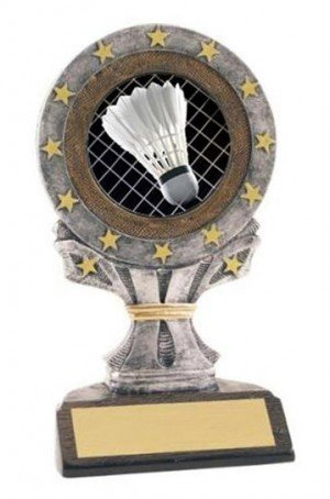 All Star Resin badminton Trophy