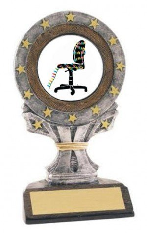 Christmas Cubicle All Star Resin Trophy
