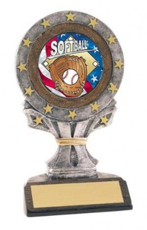 Softball All Star Resin Trophy