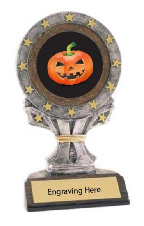Best Carved Pumpkin Halloween All Star Resin Trophy