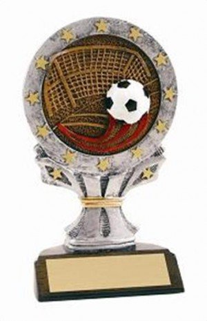 Soccer 6 1/4 Tall Resin Trophy