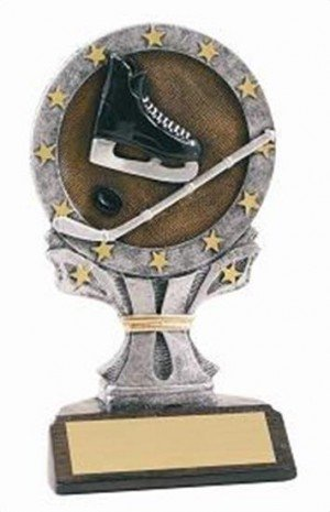 Hockey 6 1/4 Tall Resin Trophy