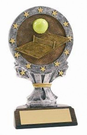 Tennis 6 1/4 Tall Resin Trophy