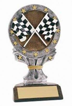 Racing 6 1/4 Tall Resin Trophy