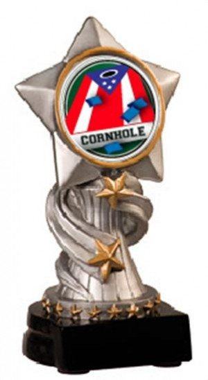 Cornhole Patriotic Encore Resin Trophy